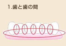 歯と歯の間